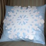 Easy Snowflake Winter Pillows