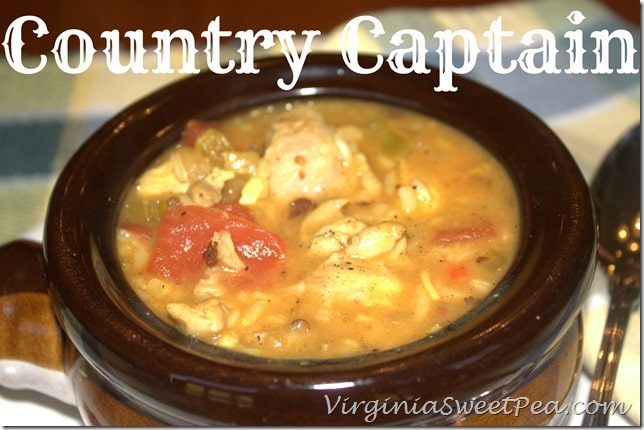 Country Captain - This southern favorite stew is chocked full of flavor. virginiasweetpea.com