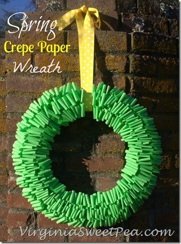 Crepe Paper Wreath - By Sweet Pea