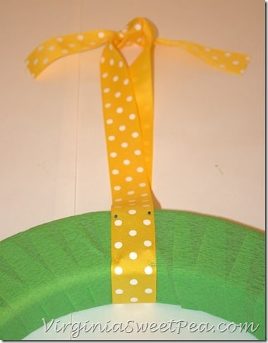 Crepe Paper Wreath - Ribbon for Hanging