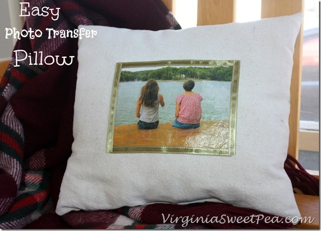 Easy Photo Transfer Pillow Using Mod Podge Photo Transfer Medium
