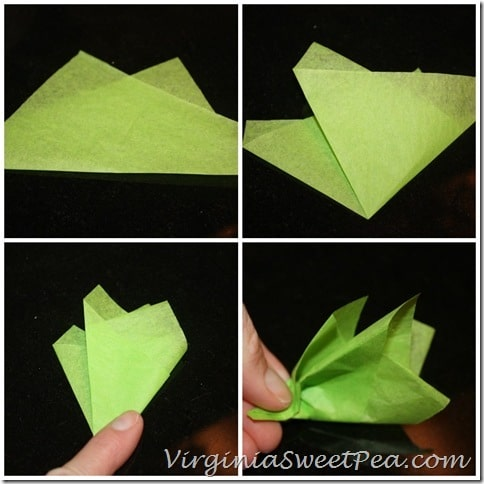 How to Make a Tissue Paper Carrot Top