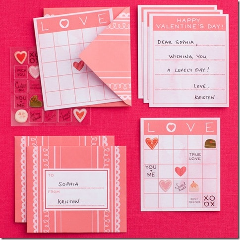 DIY Valentines Day Cards from Martha Stewart  Sweet Pea