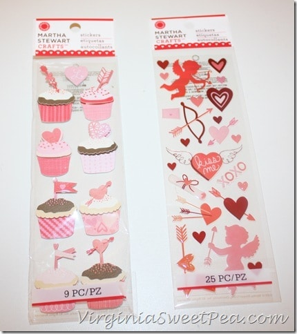 Valentine Stickers from Martha Stewart