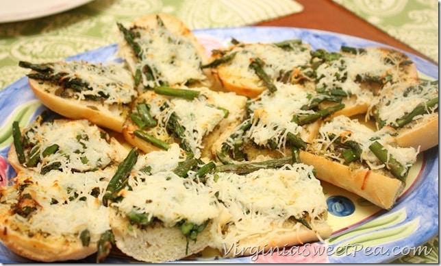Ecce Panis Pesto Asparagus Topped Bread