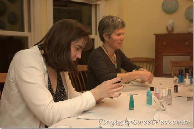 Nicole and Suzanne Work on Their Nails