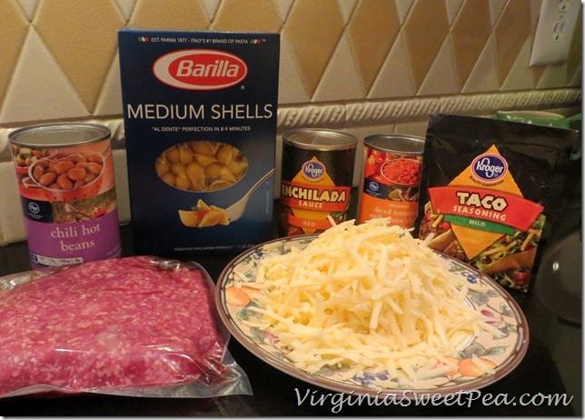 Taco Pasta Ingredients