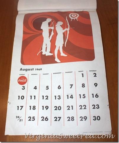 August 1969 Coke Calendar