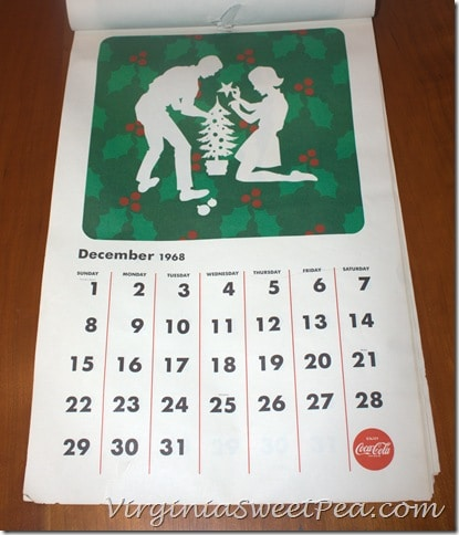 December 1968 Coke Calendar