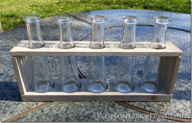 Goodwill find updated with paint sweet pea for Test tube flower vase rack