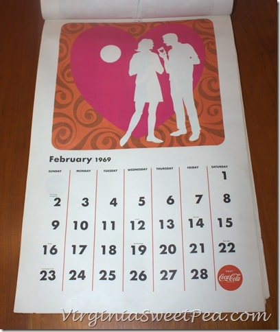 February 1969 Coke Calendar