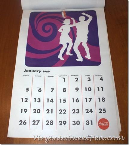January 1969 Coke Calendar