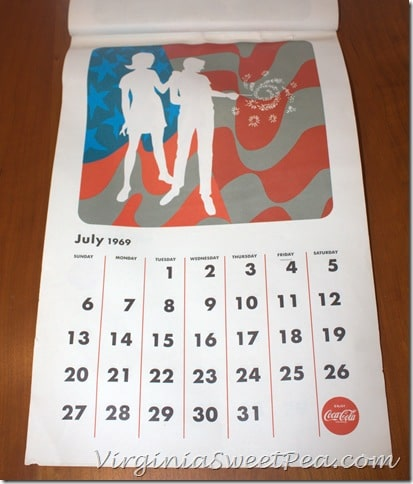 July 1969 Coke Calendar