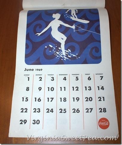 June 1969 Coke Calendar