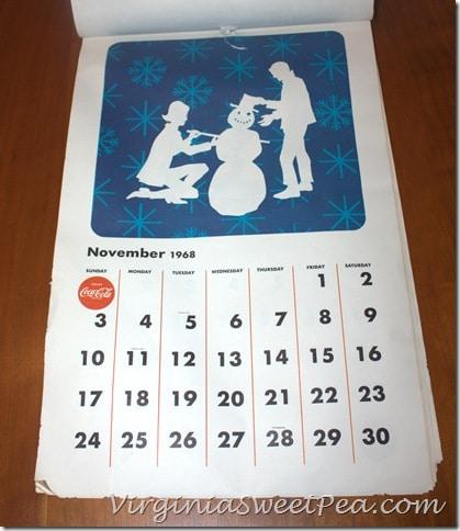November 1968 Coke Calendar