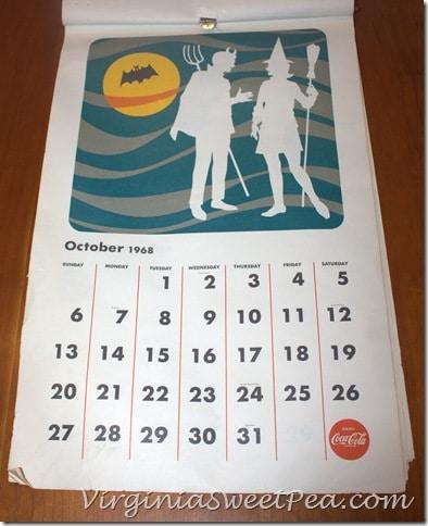 October 1968 Coke Calendar
