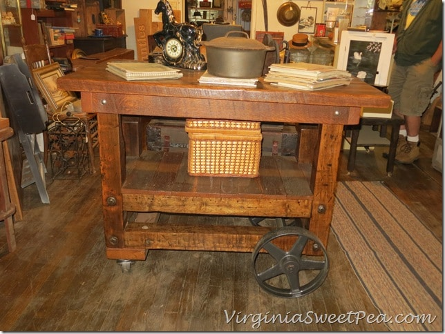 Reclaimed Parts to Kitchen Island