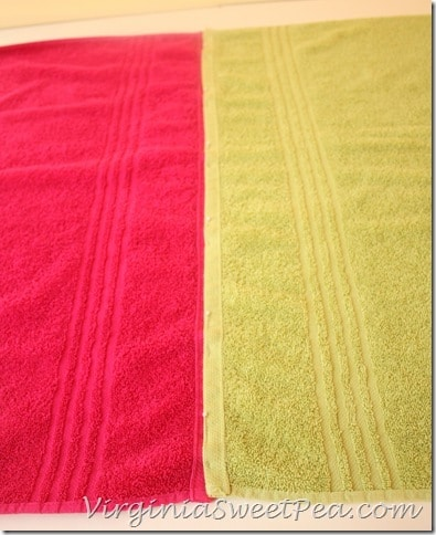 Chair Cover - Pin two towels together