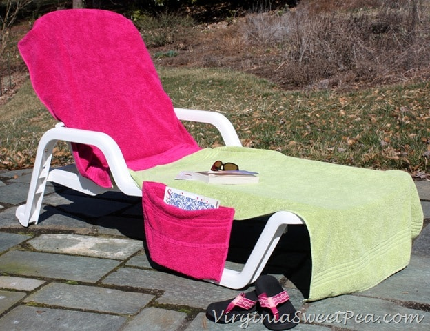 DIY Lounge Chair Cover Sweet Pea