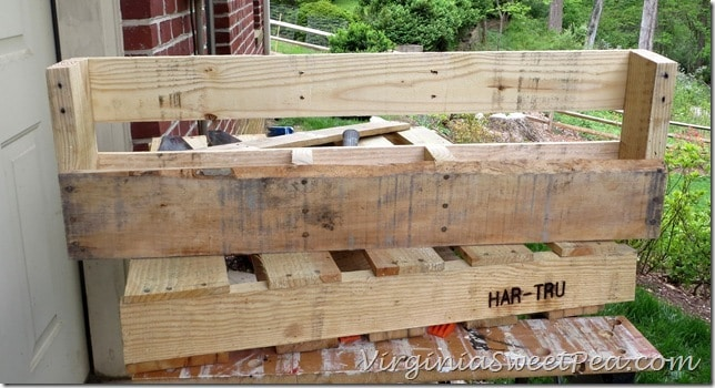 Pallet Wine Rack -Middle Boards Removed
