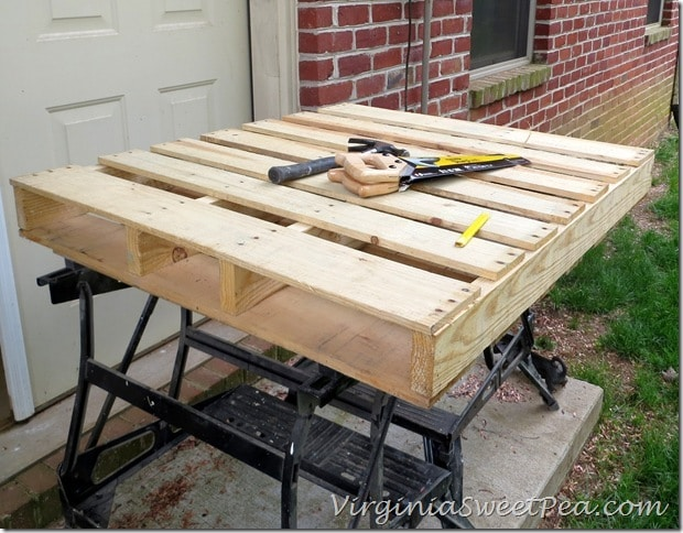 Pallet for DIY Wine Rack