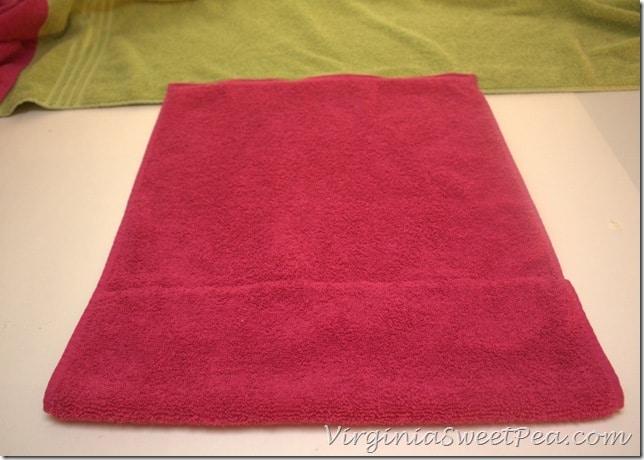 Pocket Edge Sewn to Main Towel