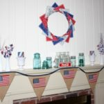 Patriotic 4th of July Mantel