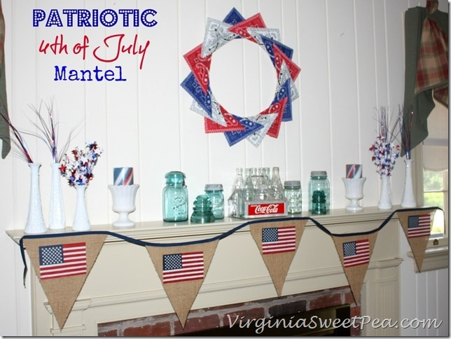Patriotic 4th of July Mantel 2013 by virginiasweetpea.com