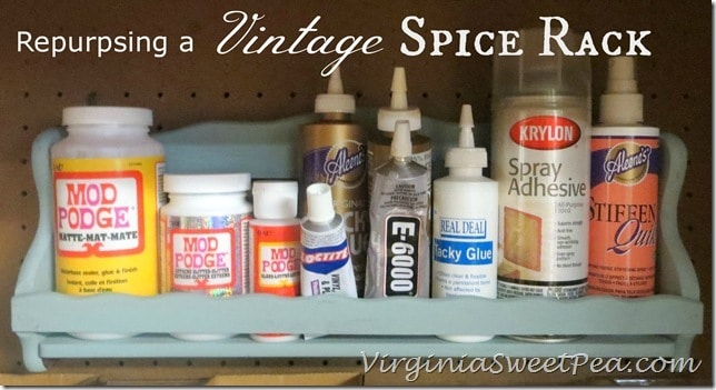 Repurposing a Vintage Spice Rack by virginiasweetpea.com