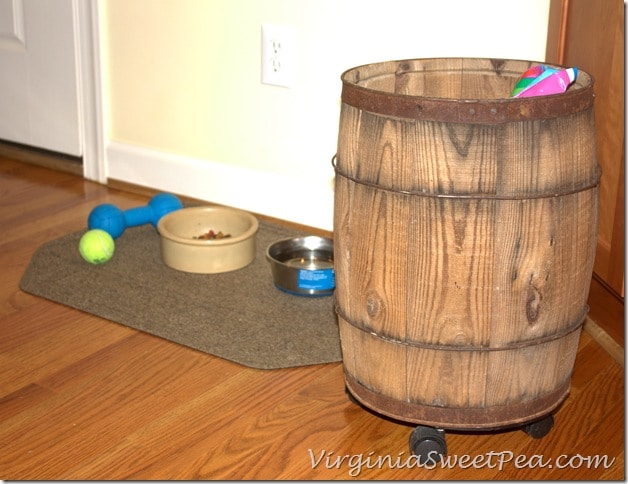 Vintage Wooden Barrel on Wheels