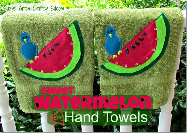 watermelon hand towels