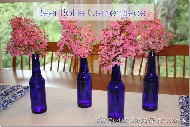Beer Bottle Centerpiece by Sweet Pea