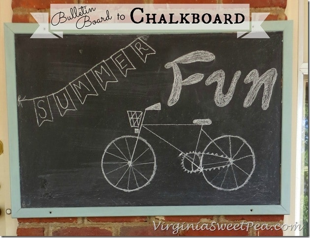 Bulletin Board to Chalkboard by Sweet Pea