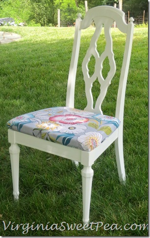 Chair Makeover - Yard Sale Find