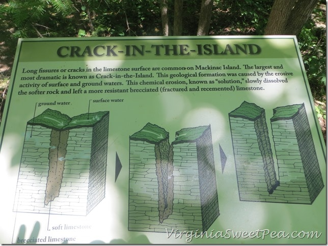 Crack in the Island Sign