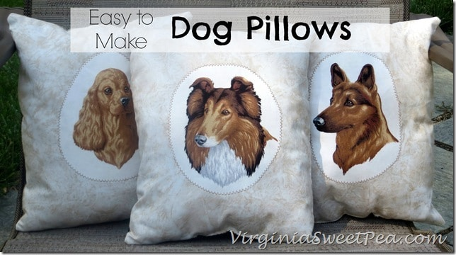 Easy to Make Dog Pillows by Sweet Pea