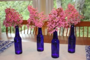 Beer Bottle Centerpiece – Yes, I Did!