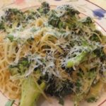 Garlicky Angel Hair Pasta with Roasted Broccoli