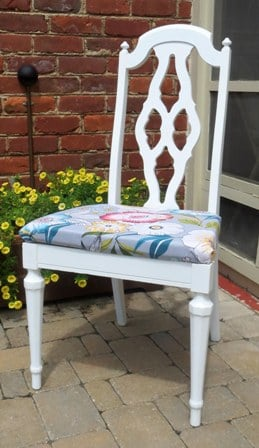 Yard Sale Chair Makeover Sweet Pea