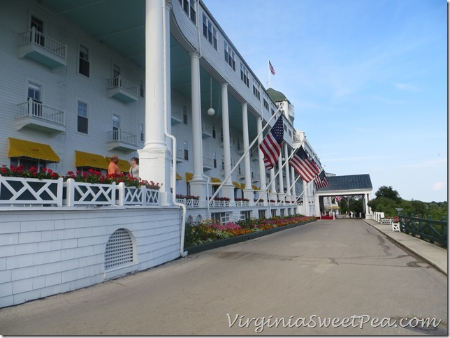 Grand Hotel Up Hill View Mackinac Island