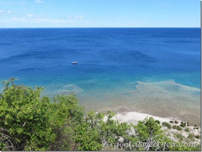 Lake Huron Blue Water on Mackinac Island