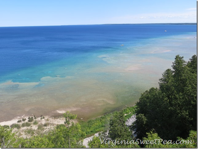Lake Huron from Arch Rock Mackinac Island