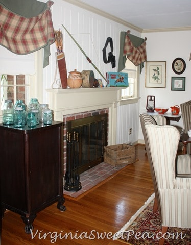 Vintage cowboy and indian mantel sweet pea - Indian themed living room ...