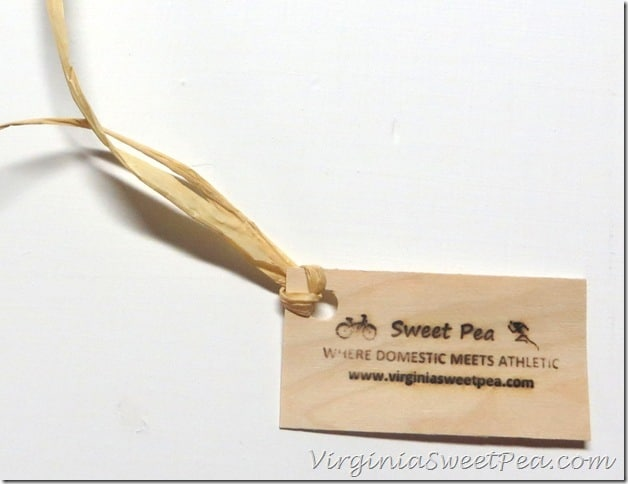 Sweet Pea Tag using Woodworker's Branding Iron