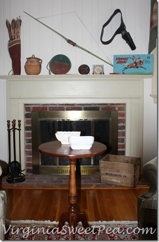 Vintage Cowboy and Indian Mantel - Front View