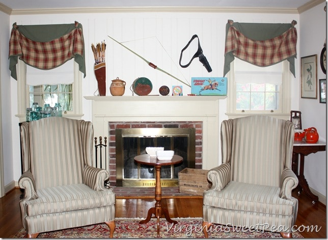 Vintage Cowboy and Indian Mantel - Full View