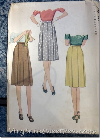 Vintage Skirt Sewing Pattern