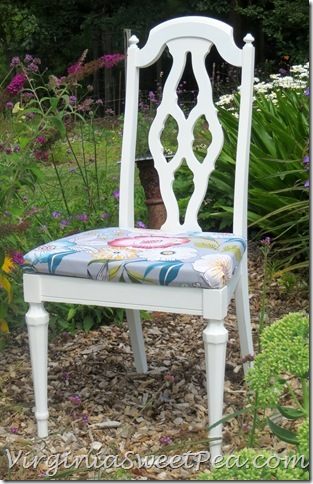 Yard Sale Chair Makeover by virginiasweetpea