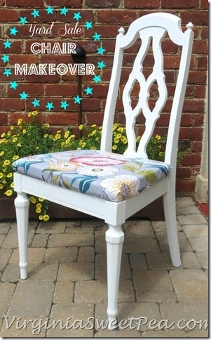 Yard Sale Chair Painted with Annie Sloan Chalk Paint