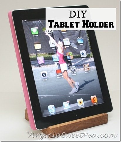 DIY Tablet Holder by virginiasweetpea.com